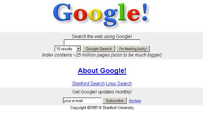 גוגל בשנת 1997