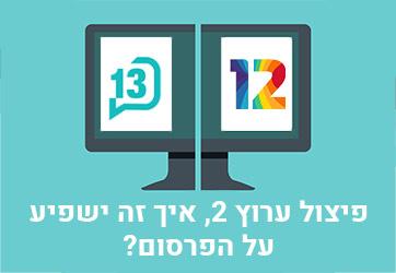 ?פיצול ערוץ 2 – איך זה ישפיע על הפרסום באינטרנט