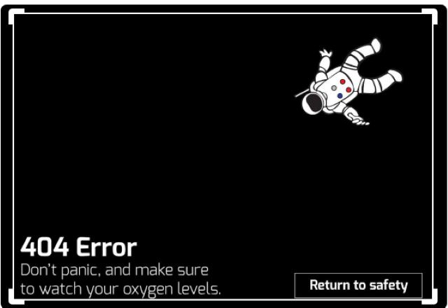 http 404 אסטרונאוט